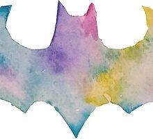 Watercolor Batman 2 by PeonyPaints