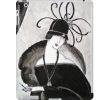 """*Ritzy"" Roaring Twenties Lady with cloche iPad Case/Skin"