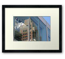 Reflections of Neighbors Framed Print