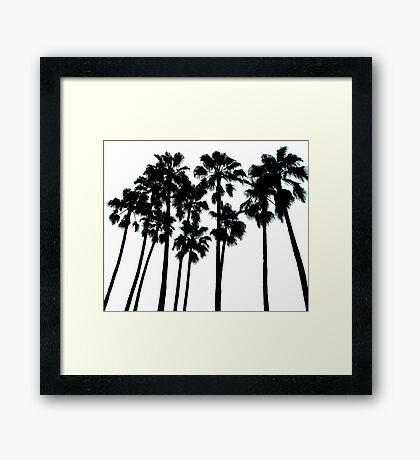 palm skyline ... Framed Print