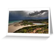 Coastal Storm,Airey's Inlet,Great Ocean Road. Greeting Card