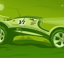 The race across the amazing green planet by Pete Elliott