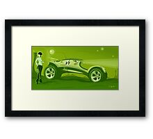 The race across the amazing green planet Framed Print