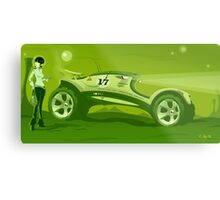 The race across the amazing green planet Metal Print