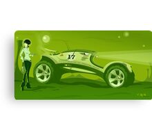 The race across the amazing green planet Canvas Print