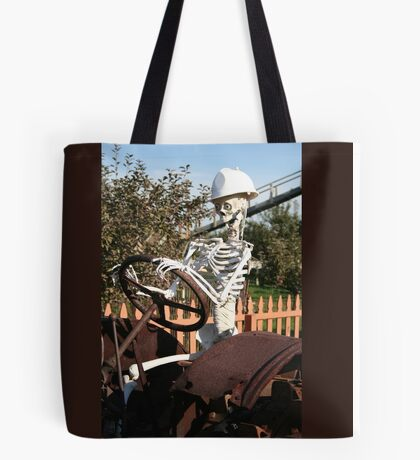 Working to the Bone Tote Bag