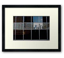 REFLECTIVE PATCH WORK  Framed Print