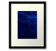 Blocks Of Blue Framed Print