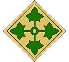 4th Infantry Division Photographic Print