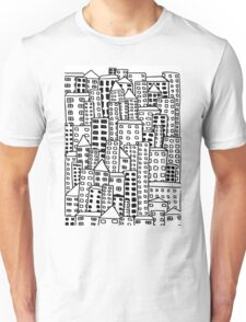 Cityscape Doodling Unisex T-Shirt