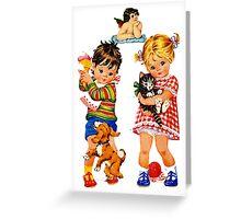 Boy Girl Angel Greeting Card