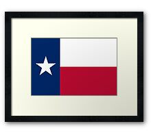 The Lone star flag of Texas - authentic version Framed Print
