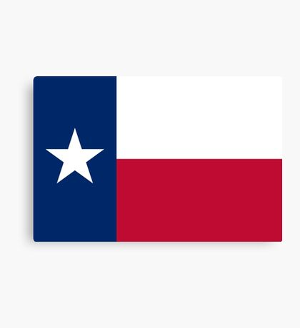 The Lone star flag of Texas - authentic version Canvas Print