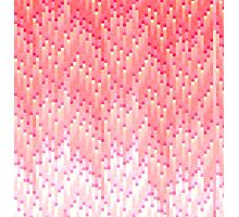 Coral and Pink Gradient 8-Bit Trendy Pattern Photographic Print