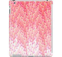Coral and Pink Gradient 8-Bit Trendy Pattern iPad Case/Skin