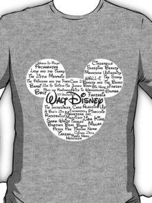 Disney Typography- Black Text T-Shirt