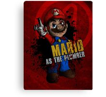 Borderlands - Mario As The Plumber Canvas Print