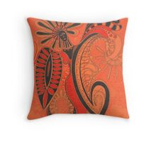 red rogue Throw Pillow