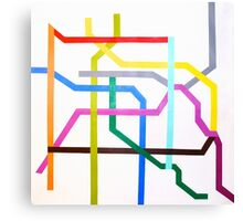 Mexico City Metro Map Canvas Print