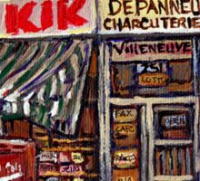MONTREAL ART CITY LANDSCAPE KIK COLA DEPANNEUR BEST MONTREAL PAINTINGS Sticker