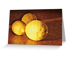 Three Lemons Greeting Card