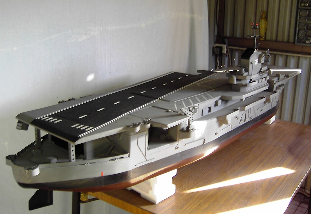 Model Aircraft Carrier - USS Shangrila by Leane Stitzinger