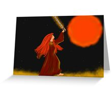 Queen of Fire Greeting Card