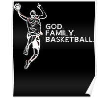GOD FAMILY BASKETBALL Poster