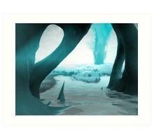 Neptune Moon Art Print
