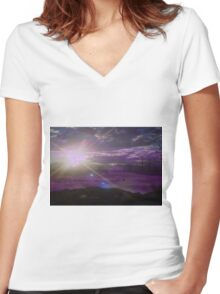 ~ode to Eos~ Women's Fitted V-Neck T-Shirt