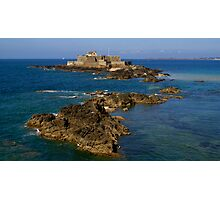 St Malo Fort Photographic Print