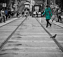 Bourke Street in Yellow Green & Blue by Jason Bran-Cinaed