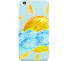 Hand Drawn Sun and Clouds iPhone Case/Skin
