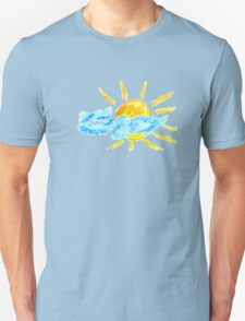 Hand Drawn Sun and Clouds Unisex T-Shirt