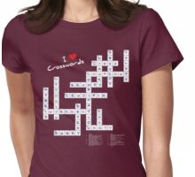 I Heart Crosswords Womens Fitted T-Shirt