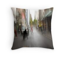 City in the Rain Throw Pillow