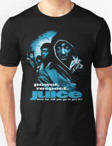 2pac Tupac Movie Poster Juice Shirt Blue Tint T-Shirt