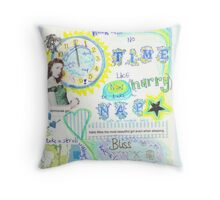 No time like now  Throw Pillow