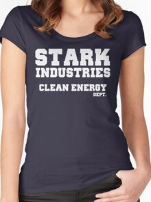 Stark Industries Clean Energy Dept. Women's Fitted Scoop T-Shirt