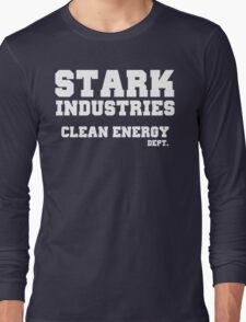 Stark Industries Clean Energy Dept. Long Sleeve T-Shirt