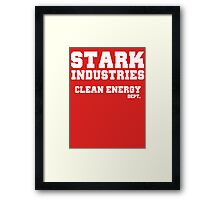 Stark Industries Clean Energy Dept. Framed Print