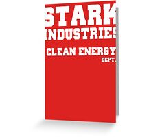 Stark Industries Clean Energy Dept. Greeting Card