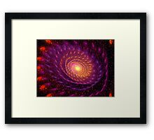 Fire storm in universe Framed Print
