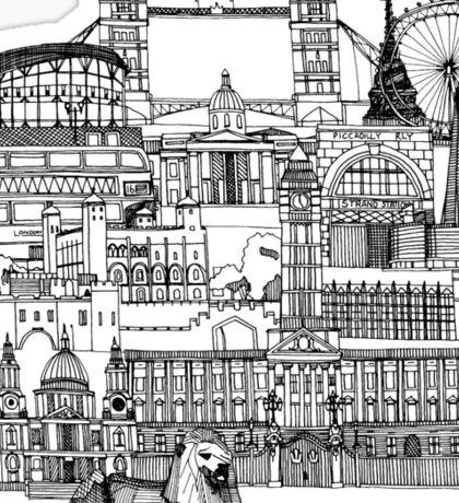 London toile black white Sticker