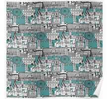 London toile blue Poster