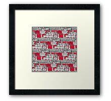 London toile red Framed Print