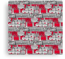 London toile red Canvas Print