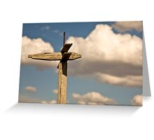 Wooden Plane on Sky Greeting Card