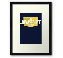 javascript developer Framed Print