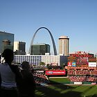 Busch Stadium View of the Arch by Jamaboop